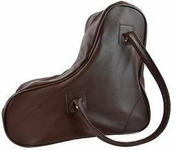 Lenexa Leather Roller Skate Bag in Brown Leather