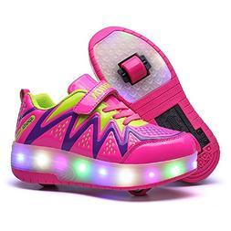 Nsasy LED High Top Roller Sneaker Single Wheel Double Wheel