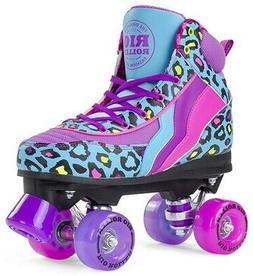 Rio Roller Skates Leopard Teal - Size US 6