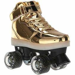 "Light Up Pulse Roller Skates Gold Sports "" Outdoors"