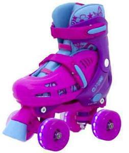 SFR Lightning Hurricane Light Up Quad Roller Skates - Pink
