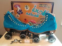 Moxi Lolly Pool Blue Roller Skates Size 7  (not Impala Riede