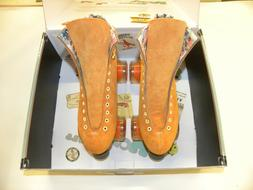 Moxi Lolly Roller Skates Clementine Size 8 Quad Skate Suede