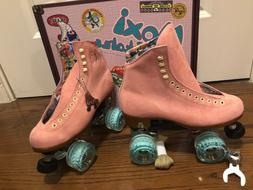 Moxi Lolly Roller Skates Strawberry pink size 7 with floss w