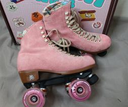 Moxi Lolly Strawberry Pink size 6 Complete outdoor roller sk