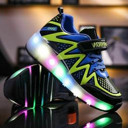 Luminous Sneakers Kids Glowing Sneakers Wheels Roller Skate