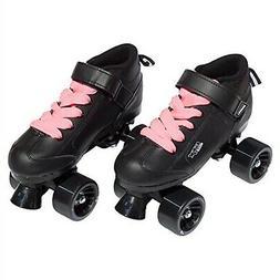 Pacer Mach-5 Black Pink Speed Skates - Mach5 GTX500 Quad Rol