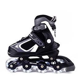 MammyGol Adjustable Inline Skates for Kids, Rollerblades Gir
