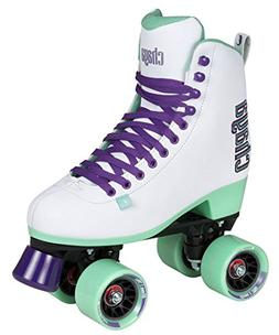 Chaya New Melrose White and Teal Quad Indoor/Outdoor Roller