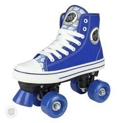 Pop Squad Midtown Boy's and Girl's Roller Skates, Blue, Sz 7