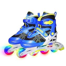 Mongoose Boys Youth Light Up Inline Skate - Size 1-4