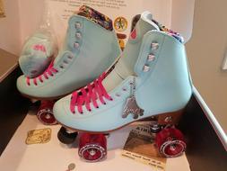 Moxi Beach Bunny Roller Skates Blue Sky Size 10 x Impalla Ri