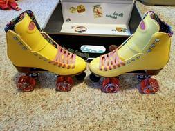 Moxi Beach Bunny Roller Skates Lemonade Yellow Size 8  Riede
