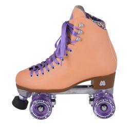 🔥 Moxi Beach Bunny Roller Skates, Peach Blanket, Size 7