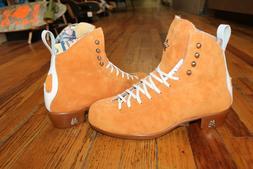 Moxi Jack roller skate boots Clementine Orange Skate Ratz is