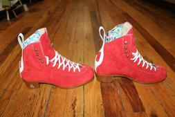 Moxi Jack roller skate boots Poppy Red Skate Ratz is a trust