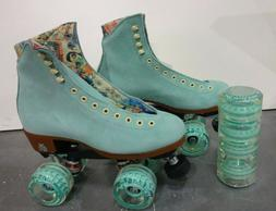 Moxi Lolly Indoor Outdoor Quad Roller Skates Teal Size 4