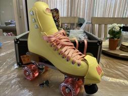 moxi roller skates size 9 bunny, straw-lemon