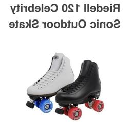New Riedell 120 Celebrity Roller Skates Size 7 with Sonic Wh