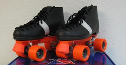 NEW Riedell 124 Speed Skates Roller Derby Demon wheels Leath