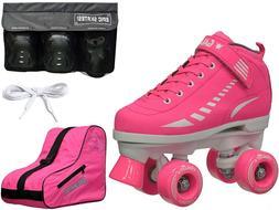 New 2016 Epic Galaxy Elite Pink Quad Roller Skate 4 Pc. Bund