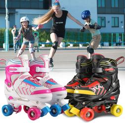 NEW Adjustable Size Roller Skates for Kids 4 Wheels Children
