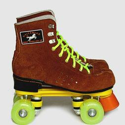 New Adults Double Lines Skating Shoes Cow Leather Quad Rolle