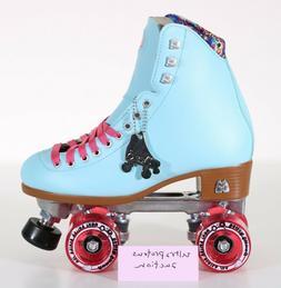 NEW Moxi Beach Bunny Roller Skates Moxi Size 5  Blue Sky