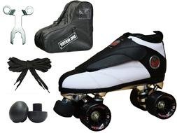 New Black & White Epic Skates Evolution Quad Roller Jam Spee