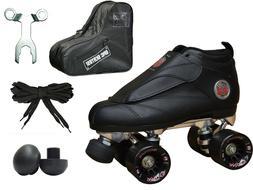 New Black Epic Skates Evolution Quad Roller Jam Speed Skate