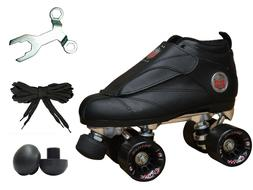 New Black Epic Skates Evolution Quad Roller Jam Speed Skates