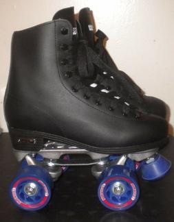NEW CHICAGO SKATES Black Rink Roller Skates with Speed Hooks