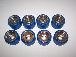 NEW BLUE CRAZY KABOOSE 62MMX42MM 90A ROLLER SKATE QUAD SPEED