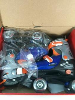 New Chicago Blue Silver CRS210 Adjustable Quad Roller Skates