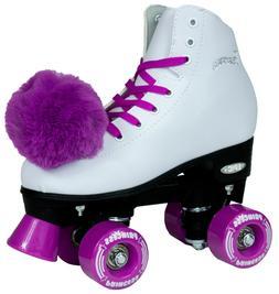 New Dark Purple Princess Indoor Outdoor Quad Roller Skates +