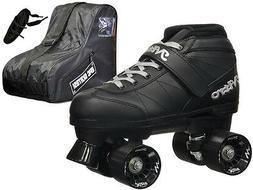 New! Epic Black Super Nitro Indoor Outdoor Quad Roller Speed