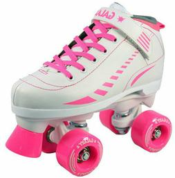 New EPIC Galaxy White & Pink Indoor Outdoor Quad Roller Spee