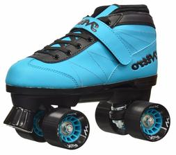 New! Epic Nitro Turbo Blue Quad Roller Speed Skates w/ Black
