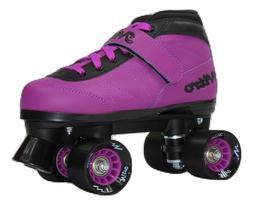 New! Epic Nitro Turbo Purple Quad Roller Speed Skates w/ Bla