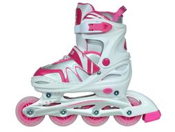 NEW Epic Pixie Pink & White Adj. Inline Roller Skates w/ All