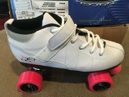 NEW! Pacer GTX 500 White/Pink Roller Skates Kids sz 4 Quad $