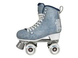 New! Chaya Melrose Deluxe Denim Quad Indoor / Outdoor Roller