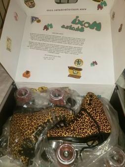 New Moxi roller skates, Jungle, Leopard/Pink, Med, Size 5