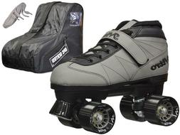 NEW Epic Nitro Indoor Outdoor Gray  Quad Roller Speed Skate