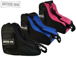 New EPIC Premium Quad Roller Speed Skate Bag Black, Red, Pin