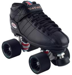 NEW! Riedell R3 Demon EDM Quad Roller Derby Speed Skates Bla