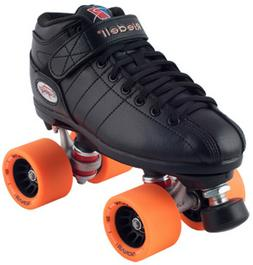 NEW! Riedell R3 Demon EDM Quad Roller Derby Speed Skates Bla