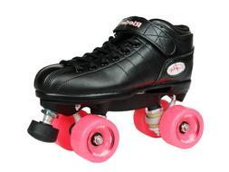 NEW! Riedell R3 Outdoor Quad Speed Roller Skates Black w/ Pi