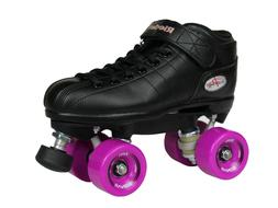 NEW! Riedell R3 Outdoor Quad Speed Roller Skates Black w/ Ma