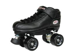 NEW! Riedell R3 Outdoor Quad Speed Roller Skates Black w/ Bl